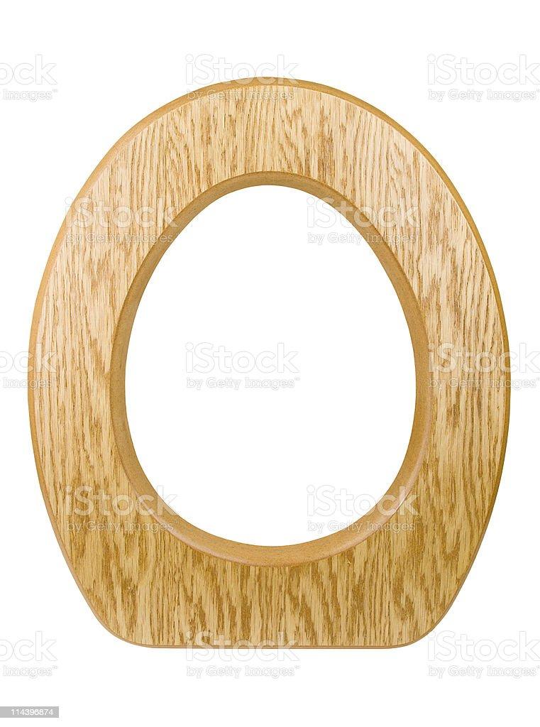Isolated Wooden Toilet Seat stock photo