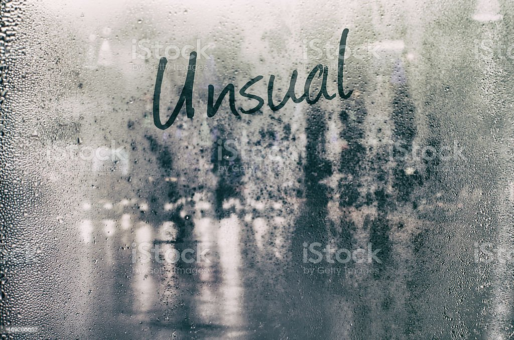 Isolated word. stock photo