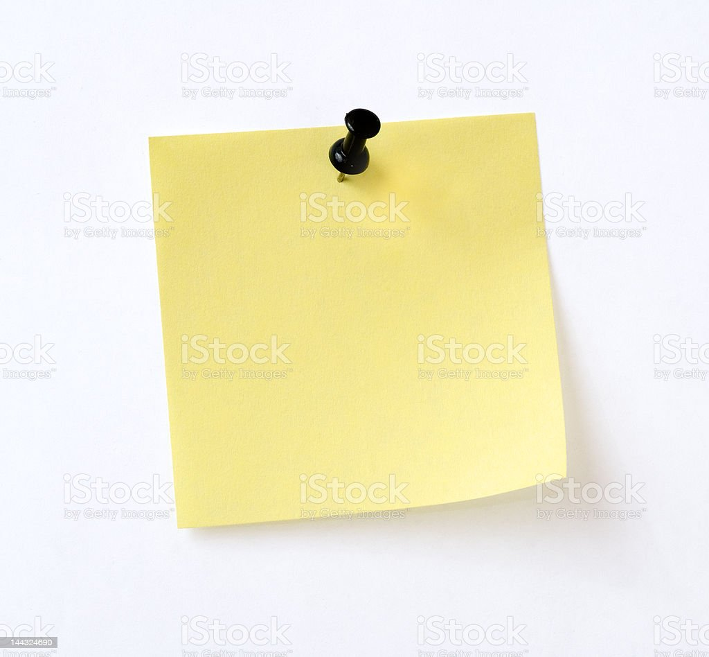 isolated yellow note stock photo