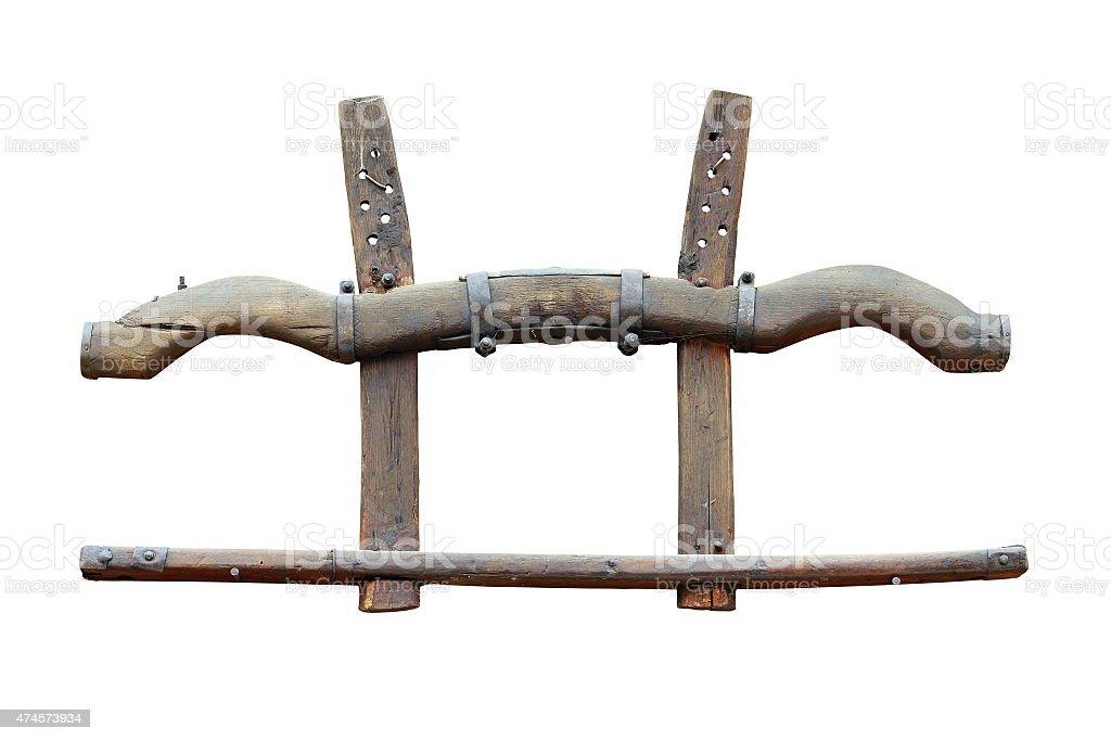 isolated yoke stock photo