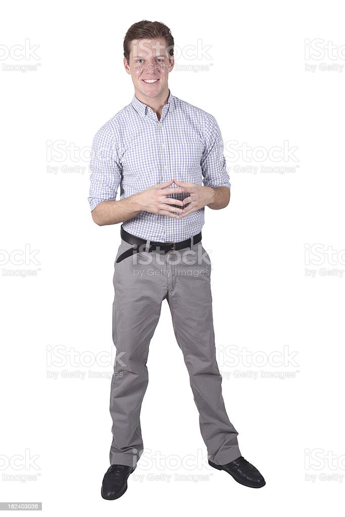 Isolated young businessman standing royalty-free stock photo