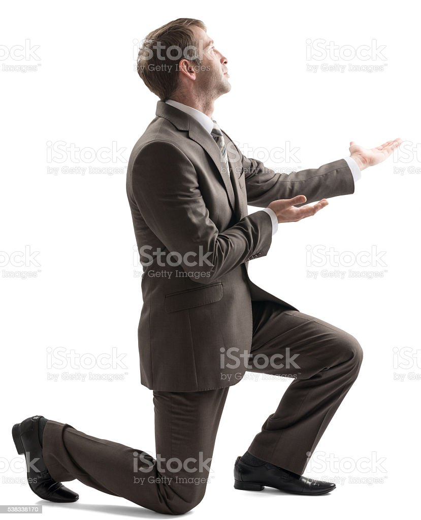 Isolated young man giving something stock photo