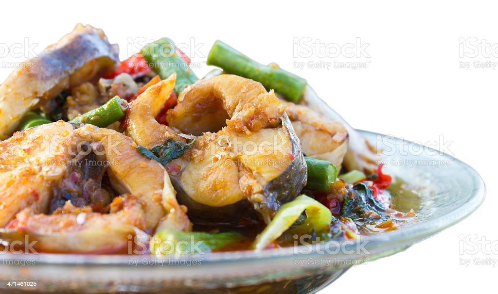 Isolates of freshwater fish curry. royalty-free stock photo