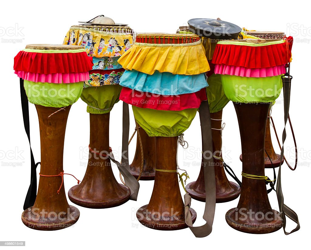 Isolates the drum Thailand royalty-free stock photo