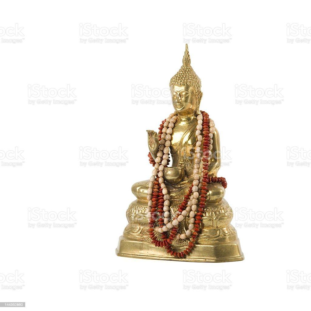Isolatewd Golden buddha stock photo