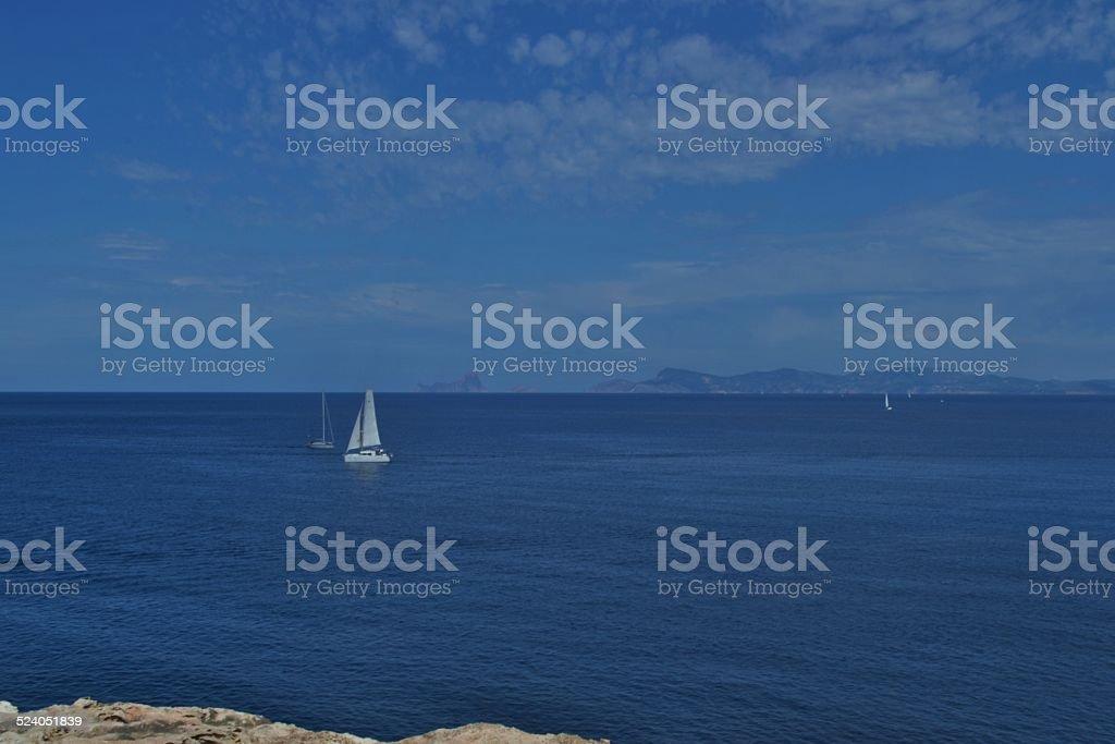 Isole Baleari. Il mare di Formentera stock photo