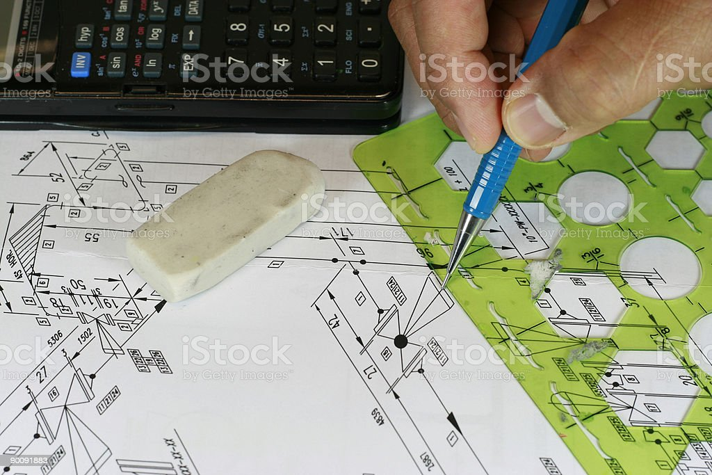 Isometric Drawing royalty-free stock photo