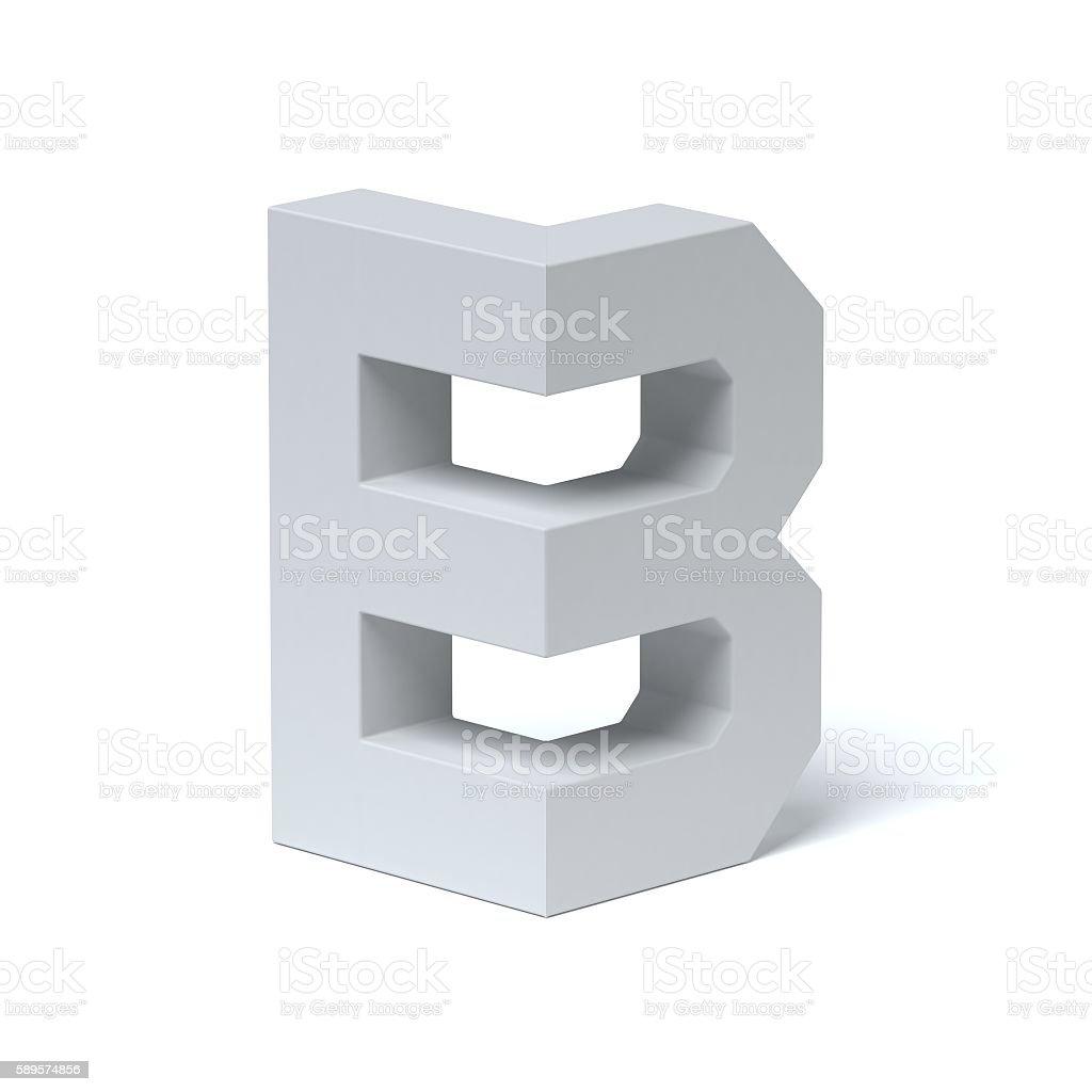 Isometric font letter B stock photo