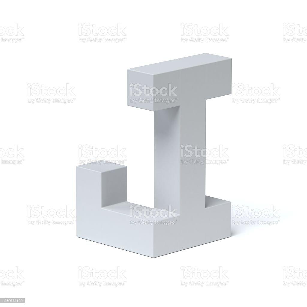 Isometric font letter J stock photo