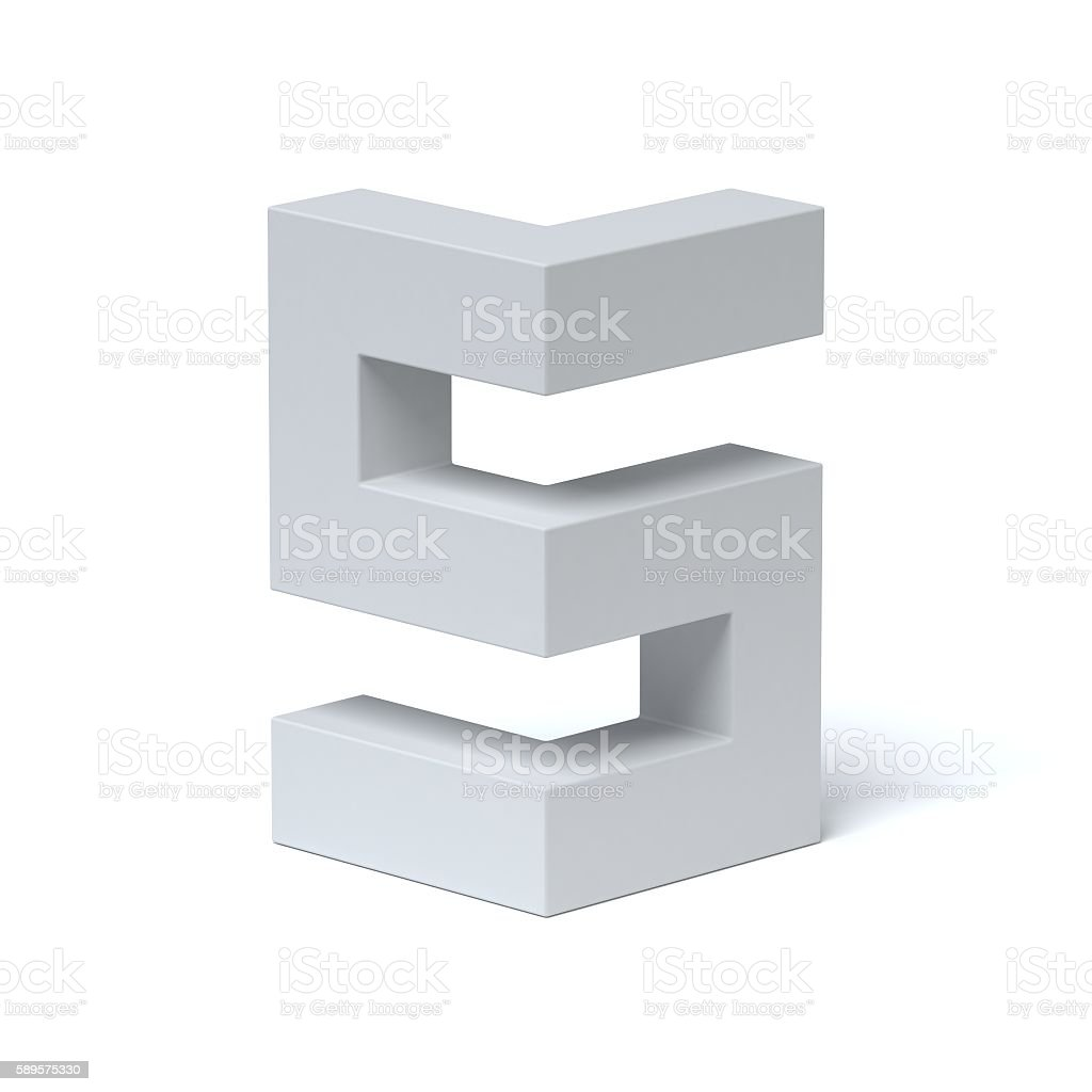 Isometric font letter S stock photo