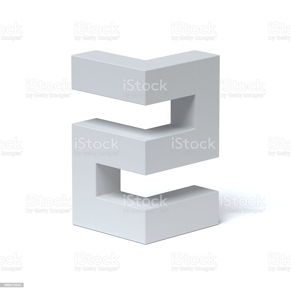 Isometric font number 2 stock photo