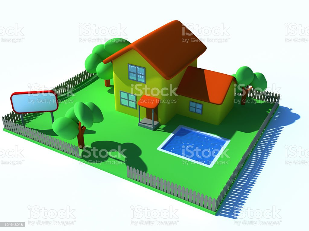 Isometric Home stock photo