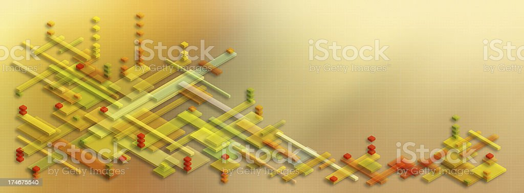Isometric Structure Abstract Background stock photo