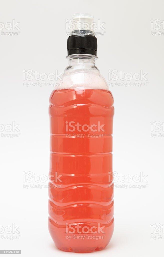 isotonic fruit sports drink plain background stock photo