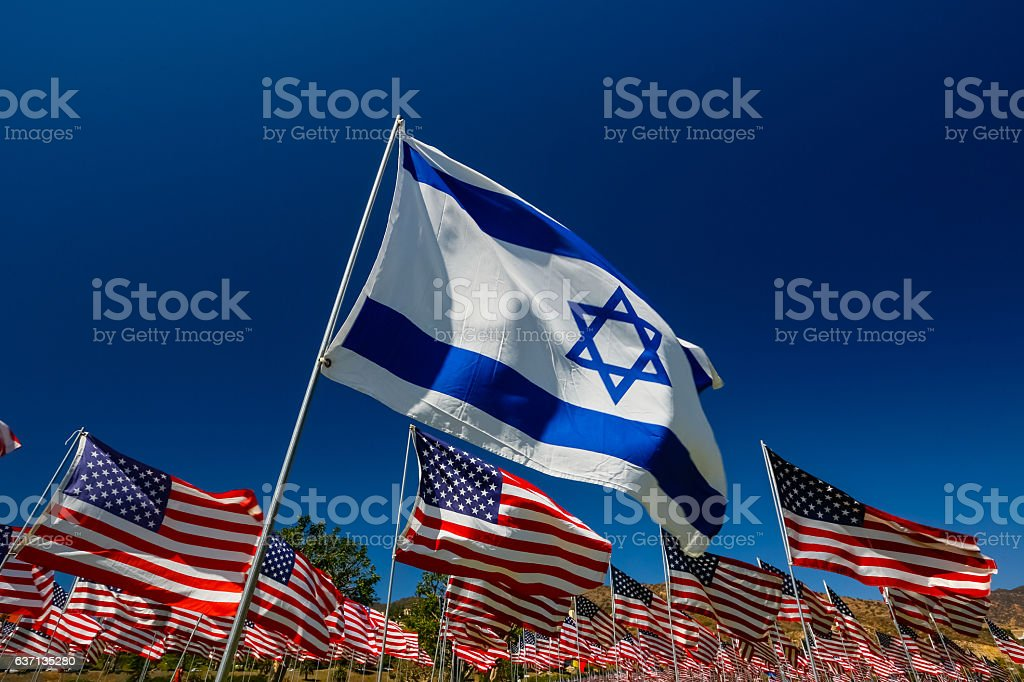 Israel American Relations stock photo