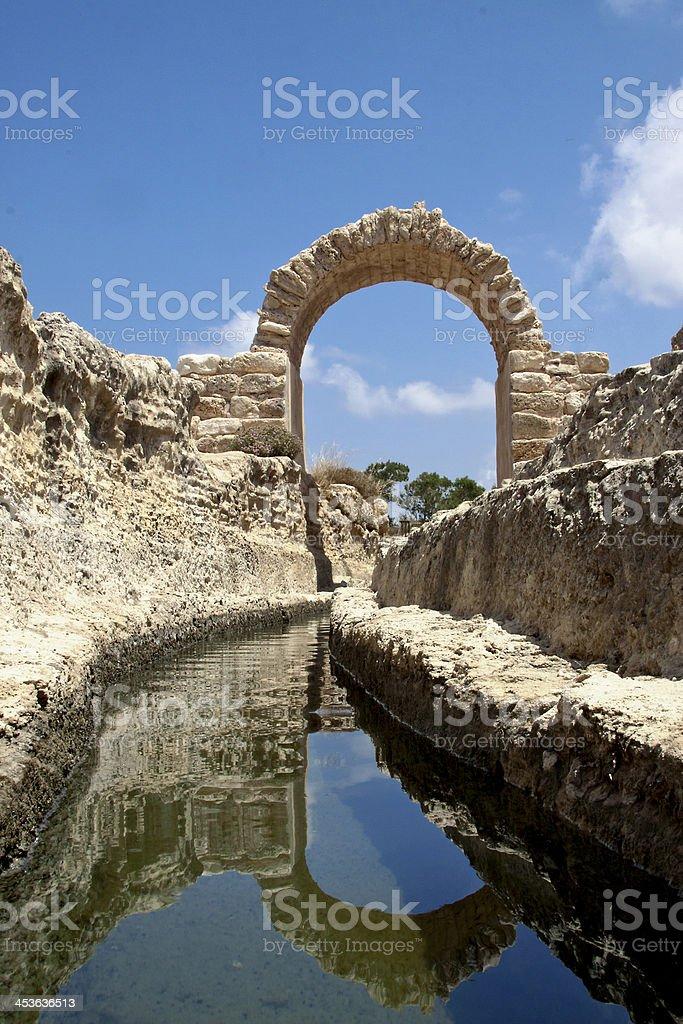 Israel Ancient Aqueduct stock photo