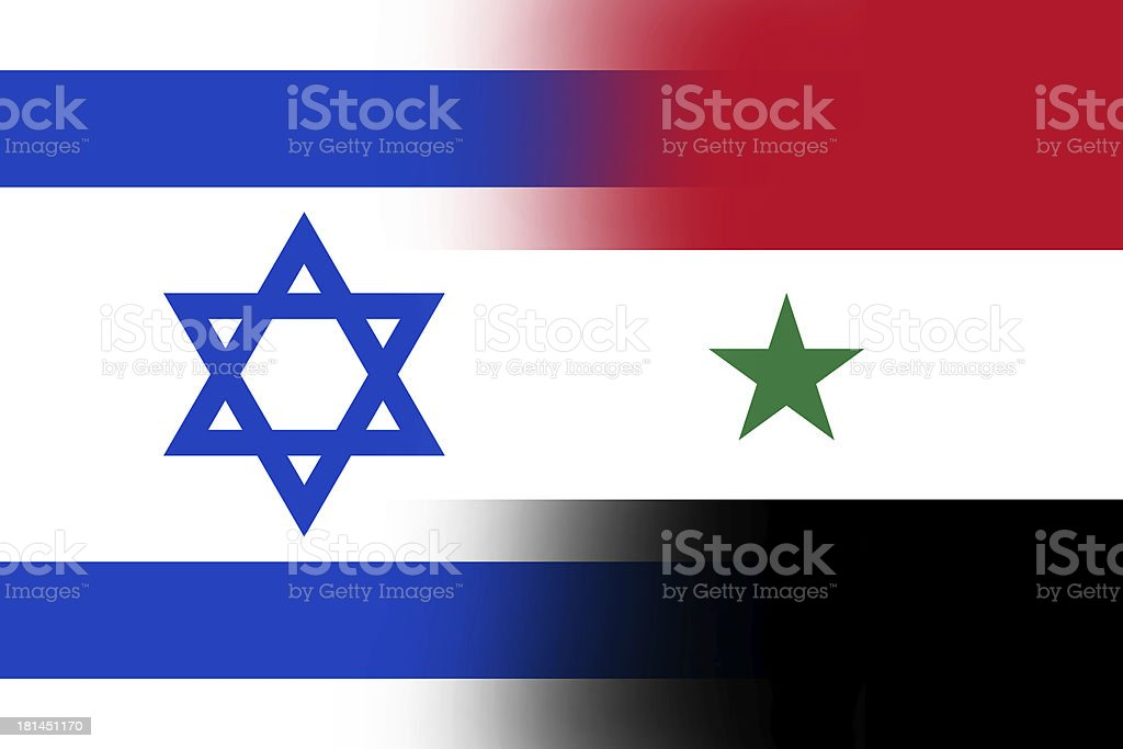 Israel and Syria Flag royalty-free stock photo