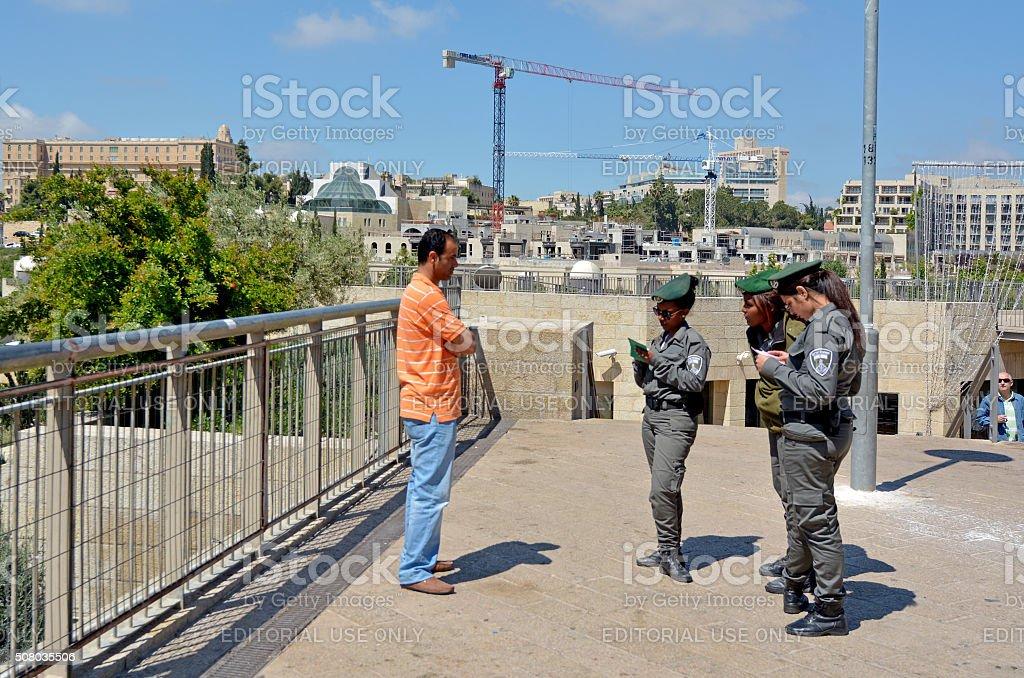 Israel Border Police stock photo