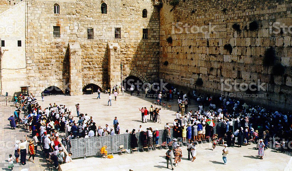 Israel. By The Western Wall royalty-free stock photo