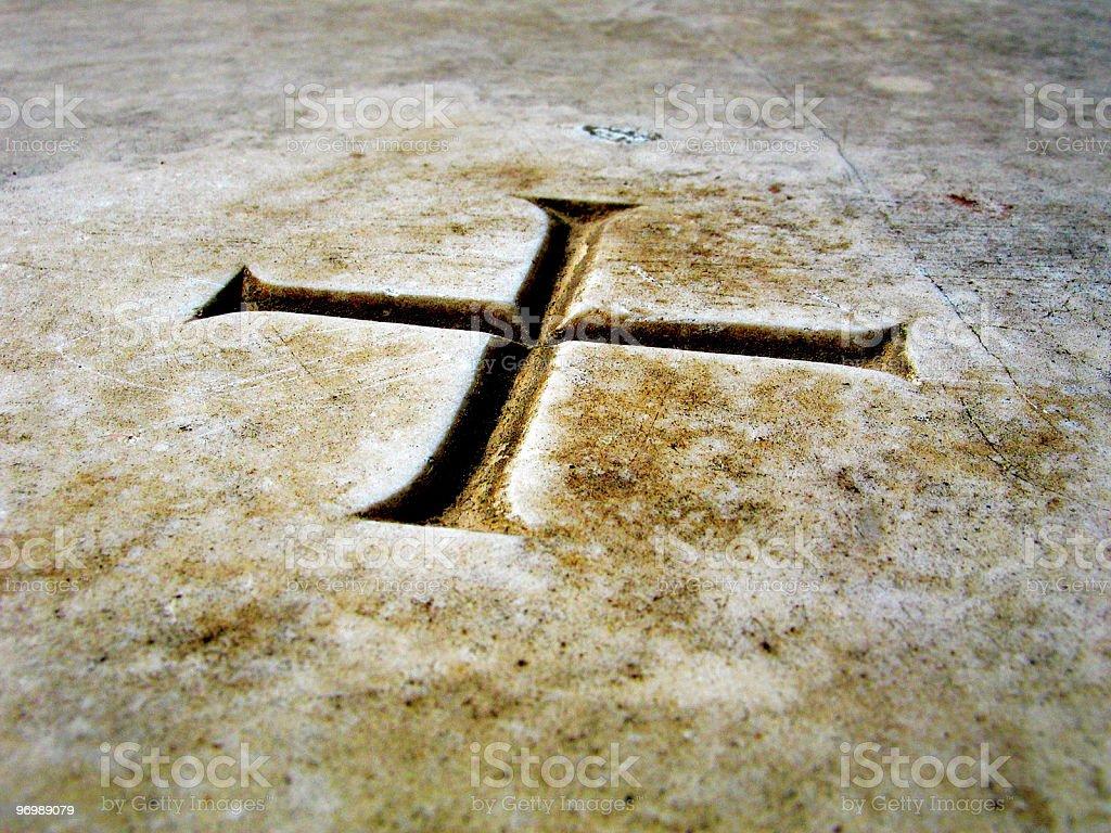 Israel Cross royalty-free stock photo