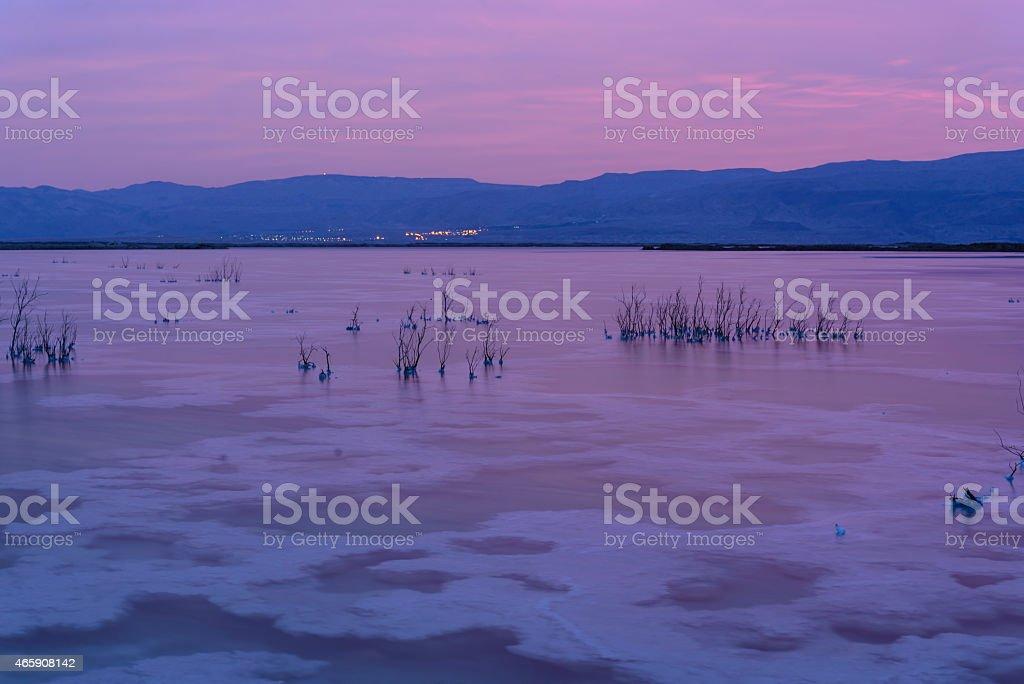 Israel. Dead sea. Dawn. royalty-free stock photo
