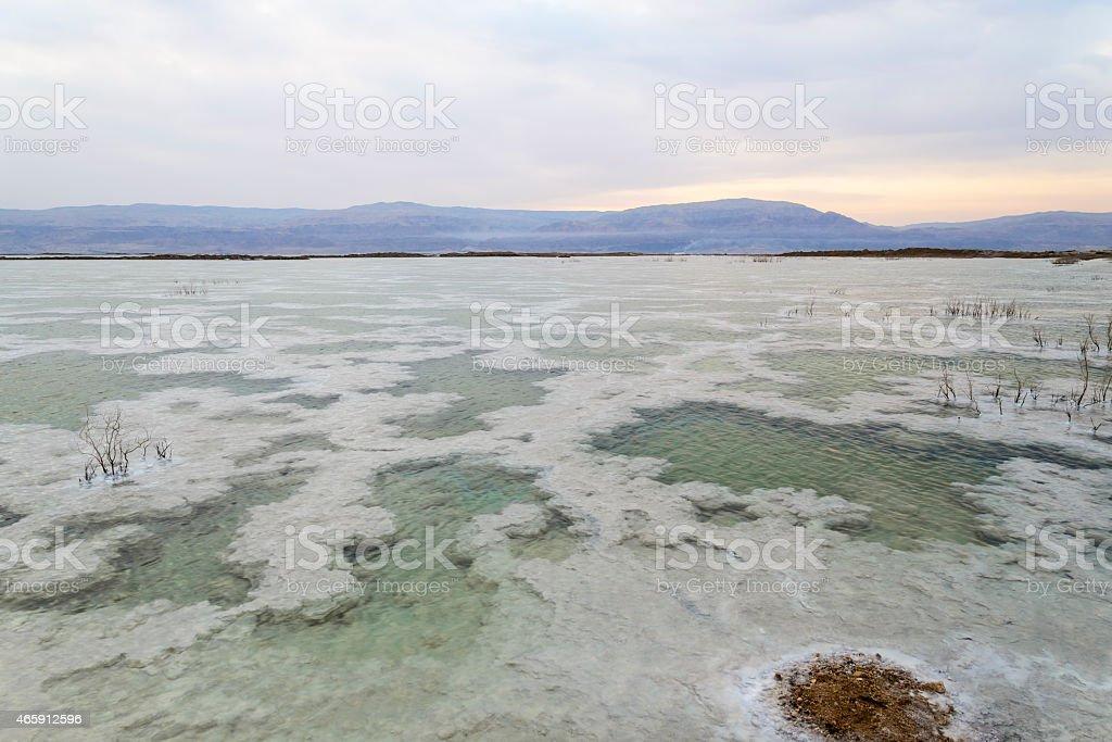 Israel. Dead sea. Dawn. Sunrise. royalty-free stock photo
