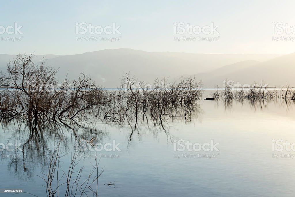 Israel. Dead sea. Sunrise. royalty-free stock photo