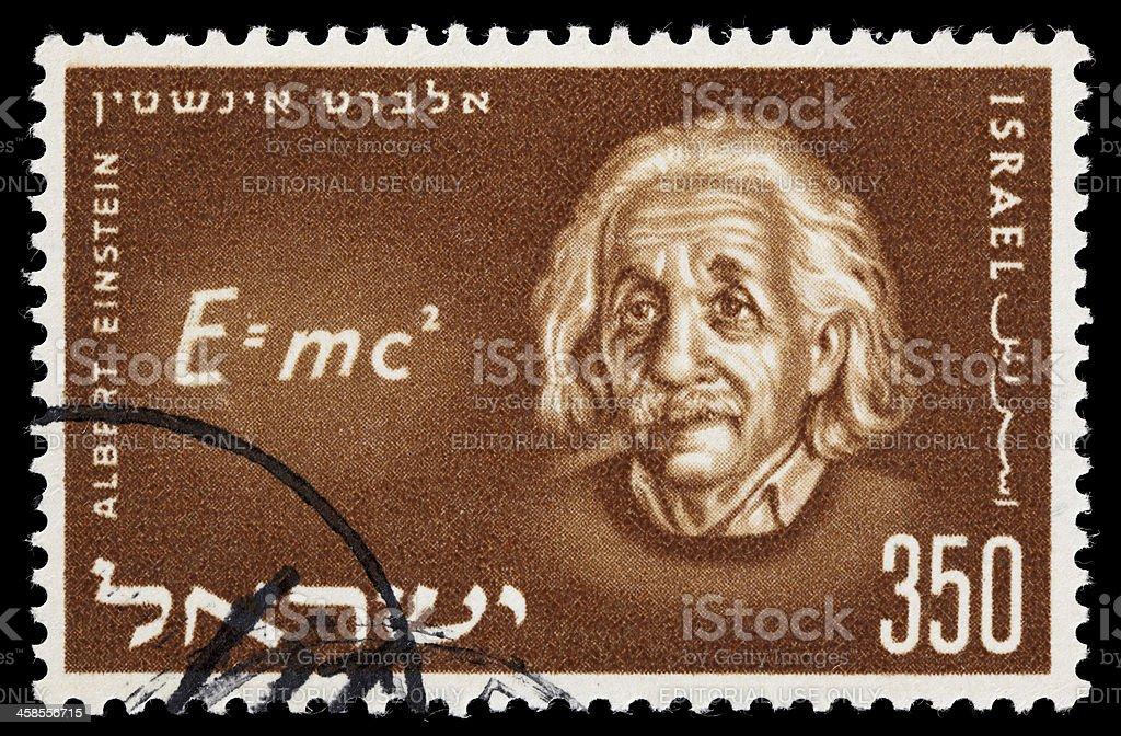 Israel Einstein postage stamp stock photo