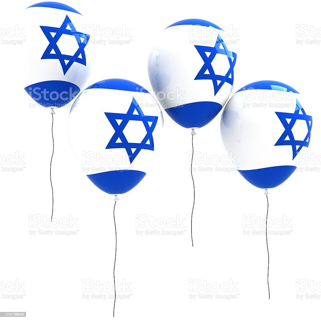 Israel Flag Balloons royalty-free stock photo