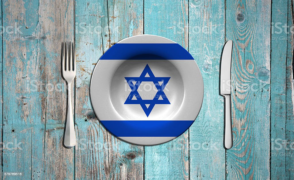 Israel flag concept stock photo