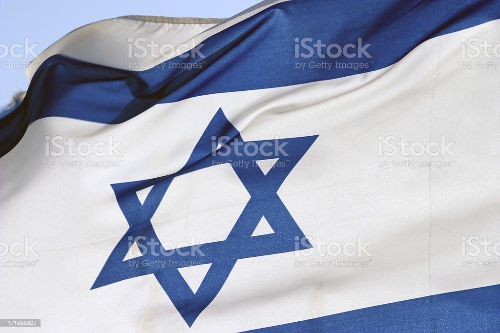 Israel flag royalty-free stock photo