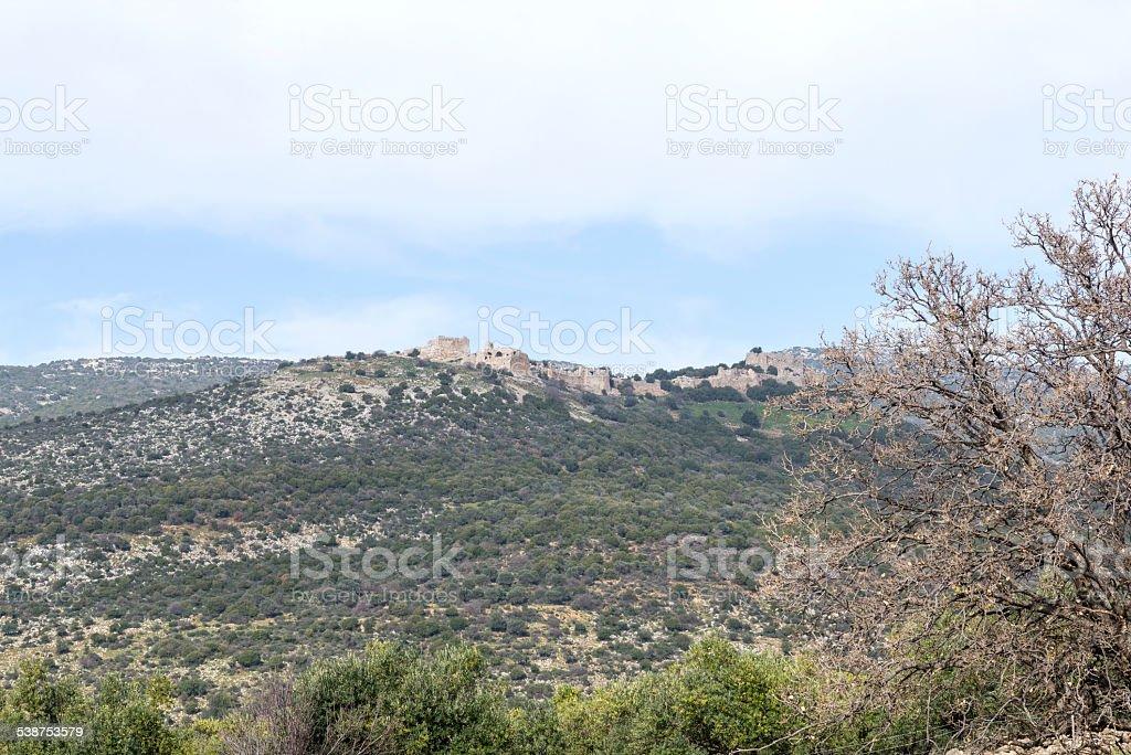 Israel. Galilee. Nimrod fortress. royalty-free stock photo