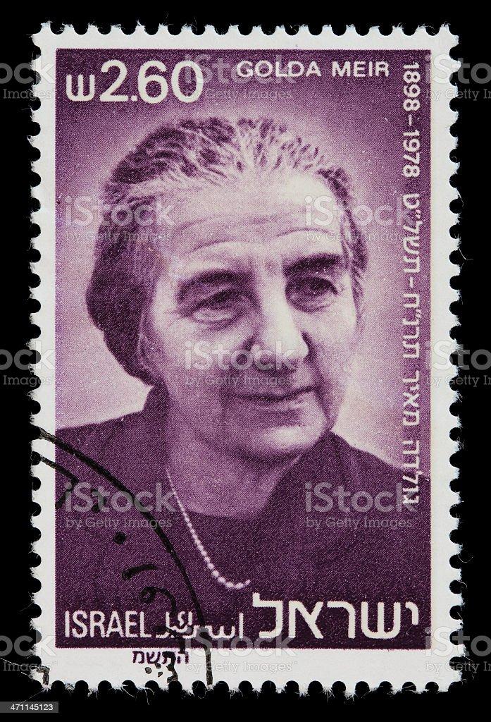 Israel Golda Meir postage stamp royalty-free stock photo