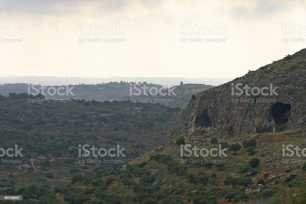 Israel Hayonim cave stock photo