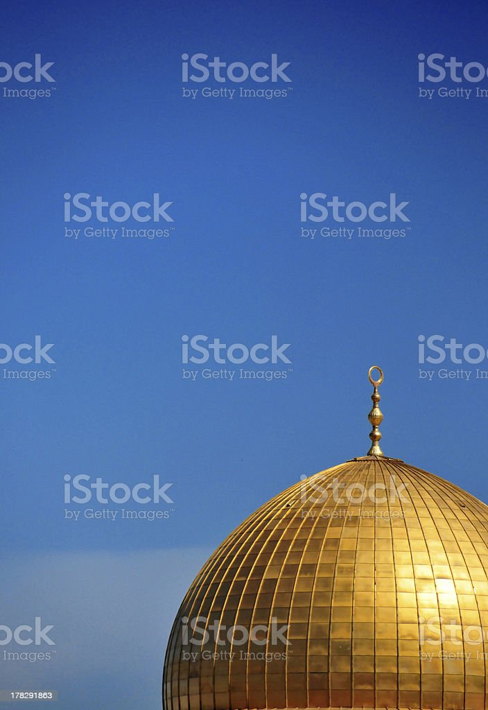 Israel - Jerusalem: Dome of the Rock royalty-free stock photo