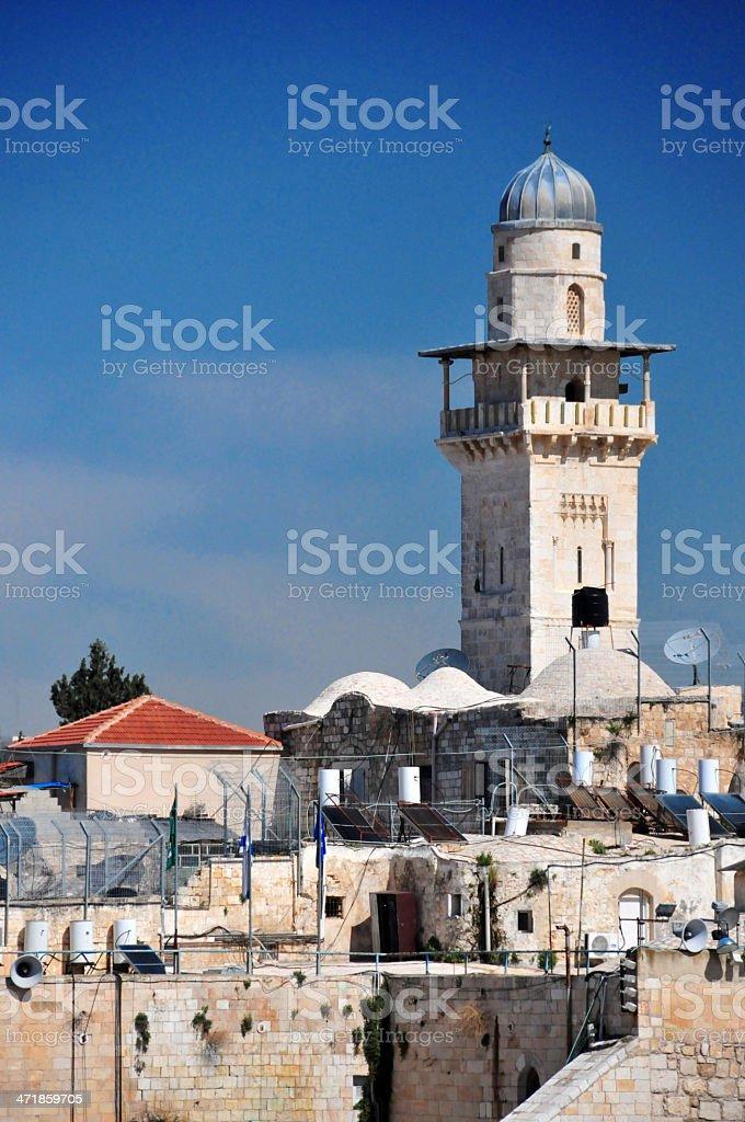 Israel - Jerusalem, Ghawanima Minaret, Al-Aqsa mosque stock photo