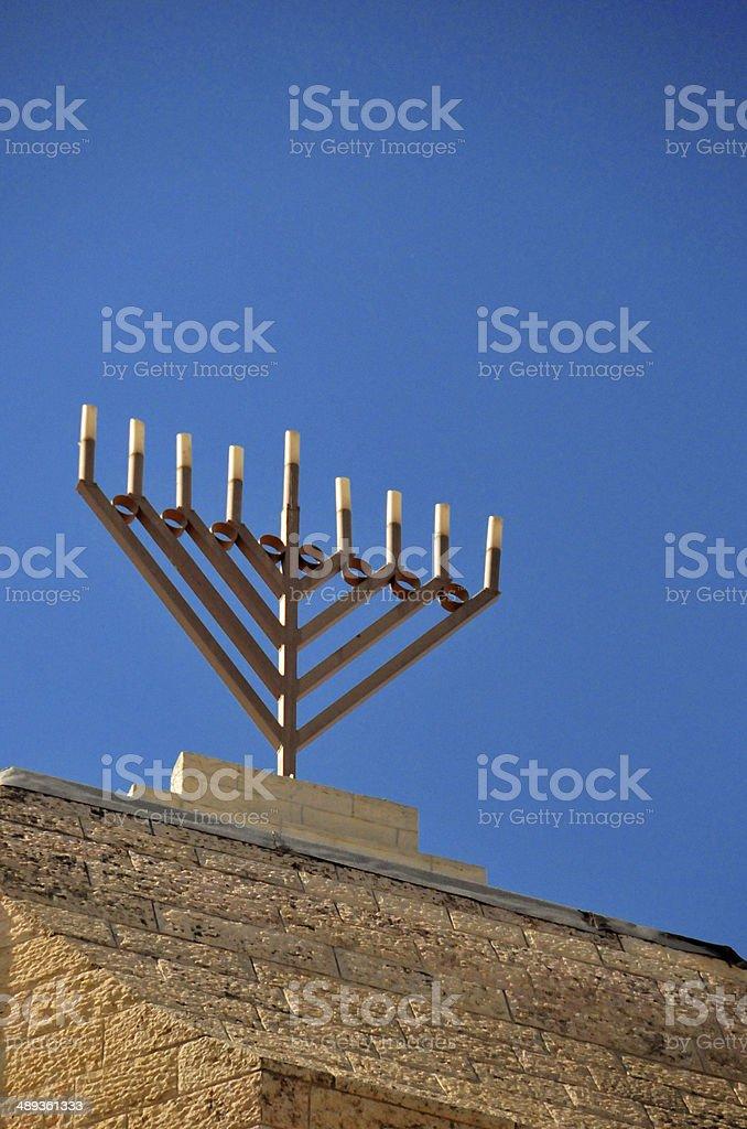 Israel - Jerusalem, Jewish quarter, Menorah stock photo