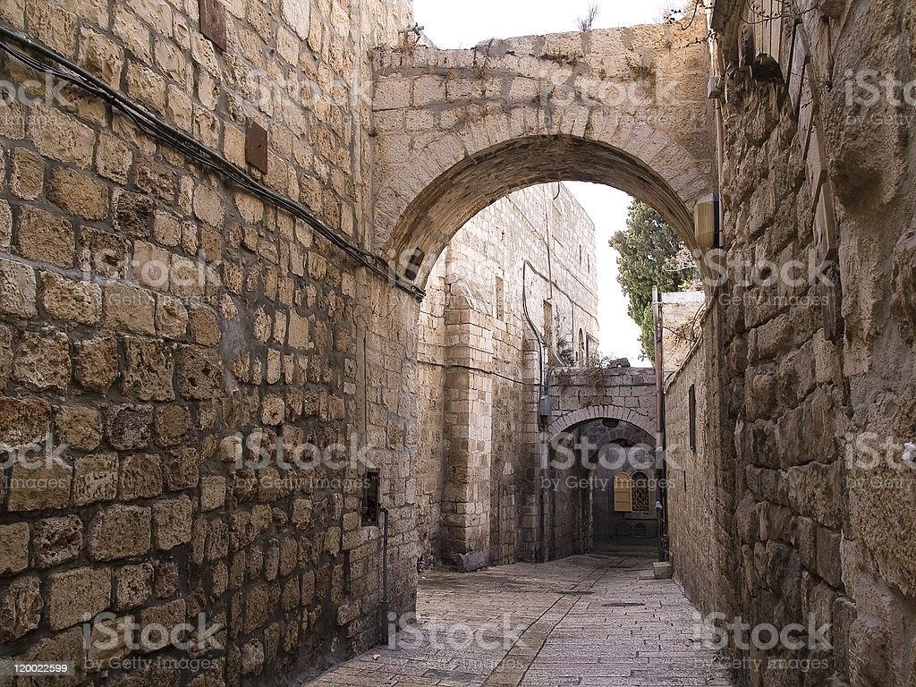 Israel - Jerusalem Old City Alley stock photo