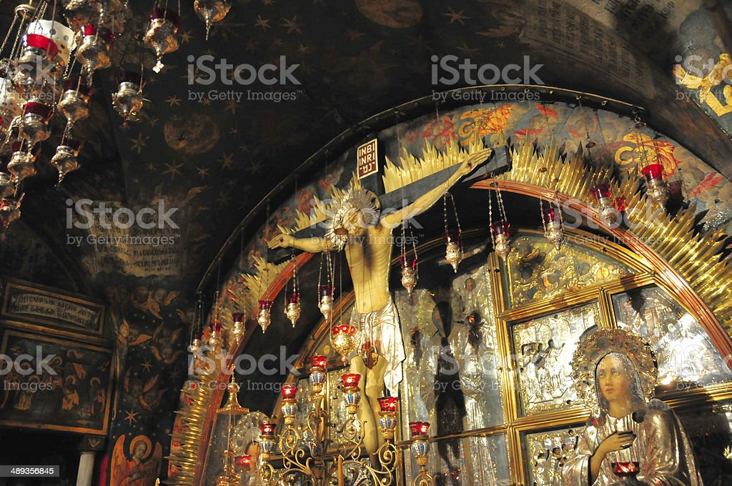 Israel - Jerusalem, the 12th Station of the cross, Golgotha stock photo