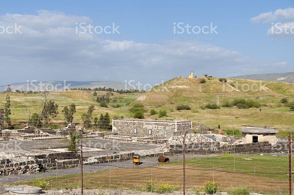 Israel - Jordan border royalty-free stock photo
