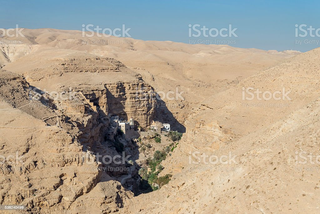 Israel. Judean desert. St. George's Monastery royalty-free stock photo
