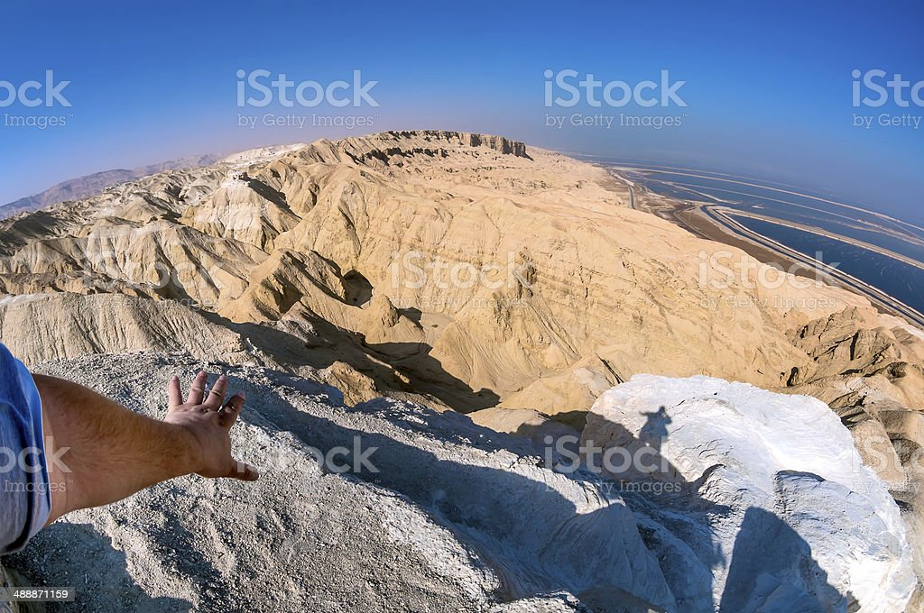Israel, Judean Desert, view from the top of Mount Sodom. royalty-free stock photo