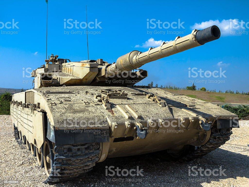 Israel made main battle tank Merkava Mk III stock photo