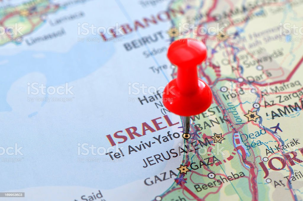 Israel map stock photo