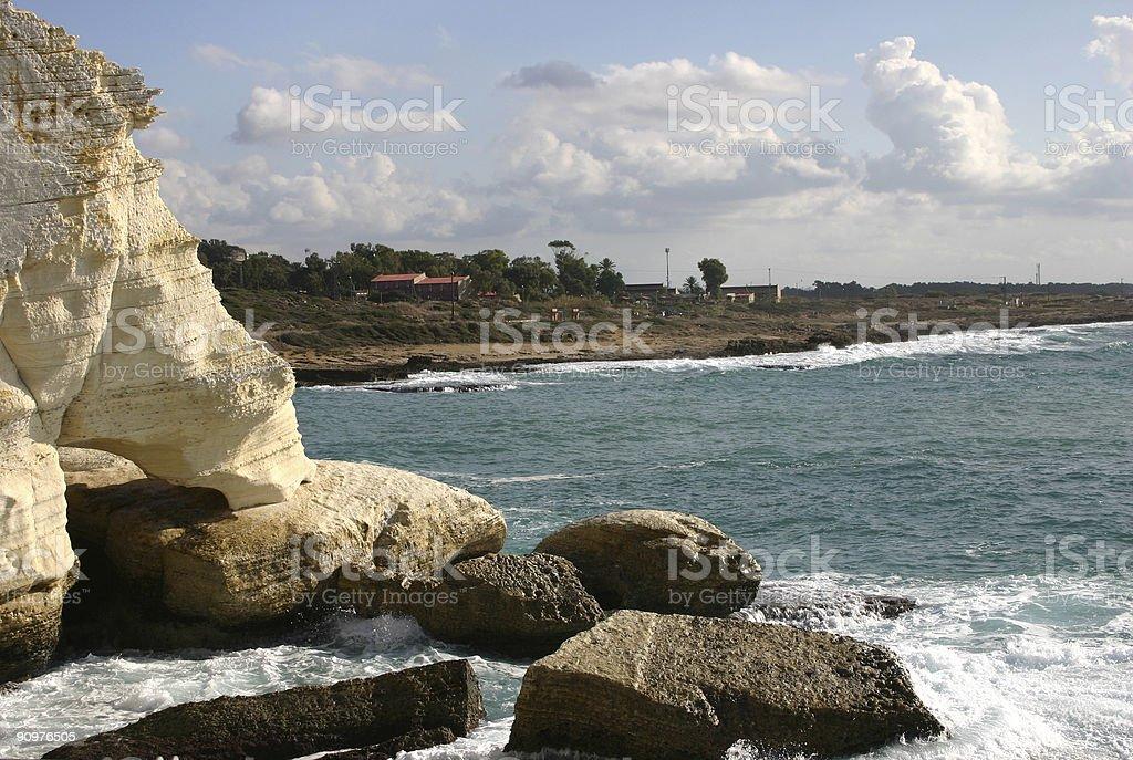 Israel - Rosh HaNikra coastline stock photo