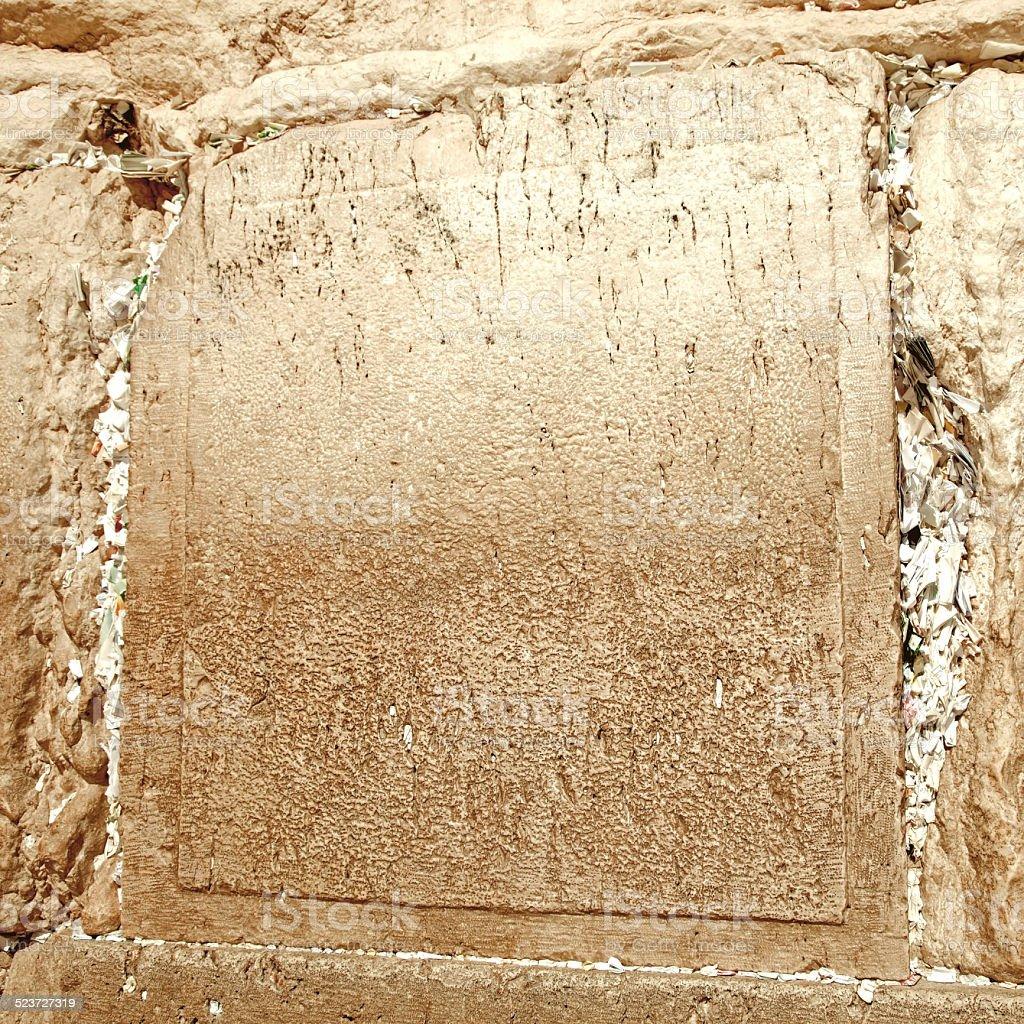 Israel. The Jerusalem wailing wall in retro style stock photo