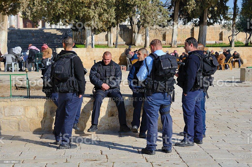 Israeli Border Police stock photo