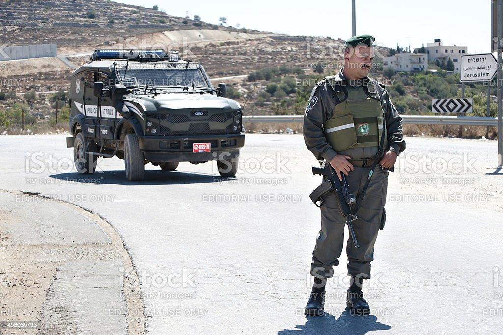 Israeli Border Police Soldier stock photo