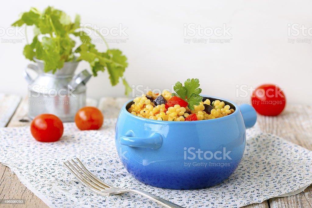 Israeli couscous (Ptitim) stock photo