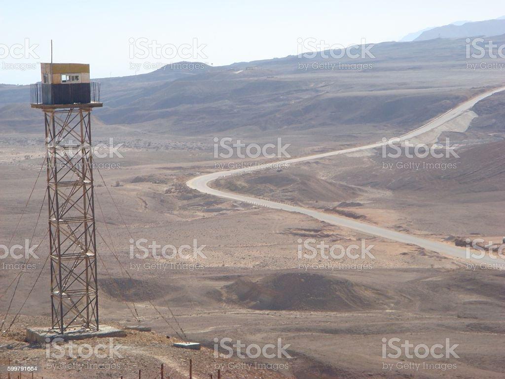 Israeli Desert and Sand stock photo